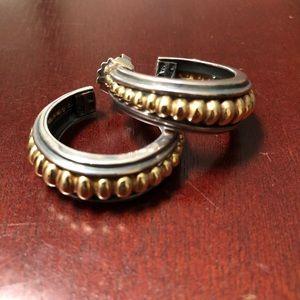 Vintage Lagos Caviar Hoops gold & silver